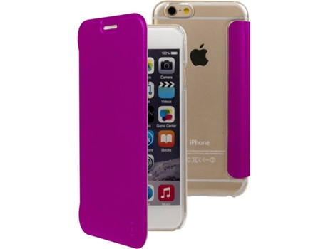 Capa MUVIT Book Apple iPhone 6, 6s, 7, 8 Roxo — Compatibilidade: iPhone 6, 6s, 7, 8
