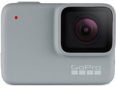 Action Cam GOPRO Hero 7 em Branco — Full HD | Wi-Fi e Bluetooth | 10 MP