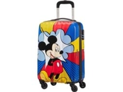 Mala de Viagem AMERICAN TOURISTER Disney Legends Mickey Color 55 cm — Cabine | 55 cm | 4 Rodas