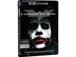 Blu-Ray 4K O Cavaleiro das Trevas (The Dark Knight) — De: Christopher Nolan / Com: Christian Bale, Heath Ledger, Aaron Eckhart