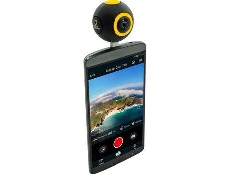 Action Cam NAT GEOGRA IC 2x360 Preto — HD