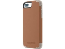 Capa GRIFFIN Prime iPhone 6 Plus, 6s Plus, 7 Plus, 8 Plus castanho — Compatibilidade: iPhone 6 Plus, 6s Plus, 7 Plus, 8 Plus