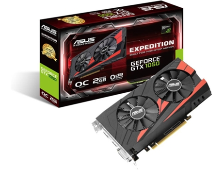 Placa Gráfica ASUS GeForce GTX 1050 Expedition 2GB OC — GTX 1050 | 1518 MHz