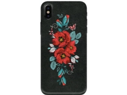 Capa BENJAMINS Embroidered Flowers iPhone X Preto — Compatibilidade: iPhone X