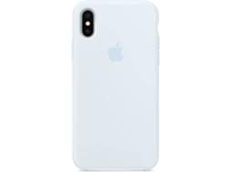 Capa APPLE Silicone iPhone X Azul — Compatibilidade: iPhone X