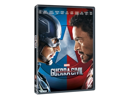 DVD Capitão América: Guerra Civil — De: Anthony Russo, Joe Rus | Com: Chris Evans, Robert Downey Jr., Scarlett Johansson