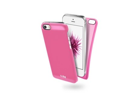 Capa SBS Color Feel iPhone 5, 5s, SE Rosa — Compatibilidade: iPhone 5, 5s, SE