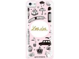 Capa LOVELY STREETS Viagem Lodon iPhone 5, 5s, SE — Compatibilidade: iPhone 5, 5s, SE