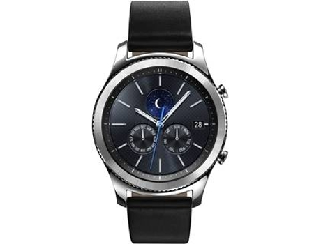 Smartwatch SAMSUNG S3 Classic Cinza — Bluetooth 4.2, Wi-Fi e NFC / 380 mAh / Android