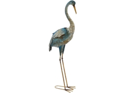 Figura Decorativa ITEM Cegonha — Metal | 109 x 29 x 19 cm
