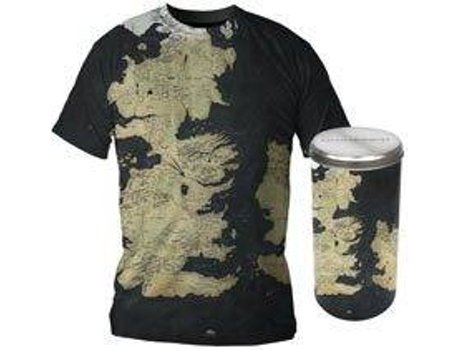 T-Shirt GAME OF THRONES Mapa de Westeros XXL — Game of Thrones