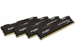 Memória Ram KINGSTON DDR4 16GB 2400 MHz DDR4 CL15  HyperX FURY Black ( Kit de 4) — 2400MHz | DDR4