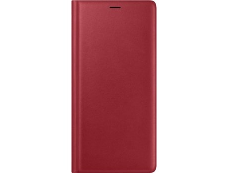 Capa SAMSUNG Leather Galaxy Note 9 Vermelho — Compatibilidade: Samsung Galaxy Note 9