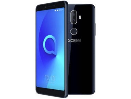 Smartphone ALCATEL 3V 16 GB Preto — Android 8 | 6'' | Quad-Core | 2 GB RAM | Dual SIM