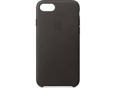 Capa APPLE Leather Charcoal iPhone 7, 8 Cinzento — Compatibilidade: iPhone 7, 8