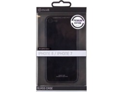 Capa MUVIT Glass iPhone 7, 8 Preto — Compatibilidade: iPhone 7, 8