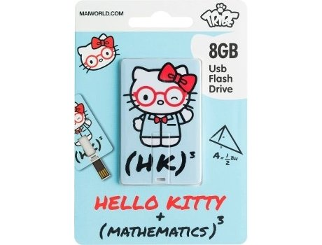 Pen USB TRIBE USBCard Hello Kitty Math 8GB — 8 GB | USB 2.0