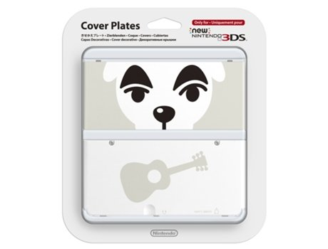 Capa  Decorativa NEW 3DS Animal Crossing: New Leaf - K.K. Slider — Compatibilidade: New Nintendo 3DS