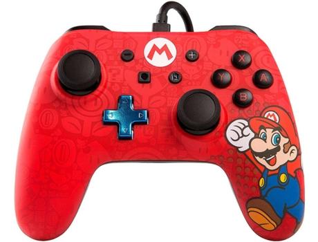 POWER A - Comando com Fios PowerA para Nintendo Switch - Mario