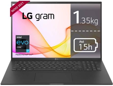 Portátil LG Gram 17Z90P-G.AP78P (17'' - Intel Core i7-1165G7 - RAM: 16 GB - 1 TB SSD - Intel Iris XE Graphics)