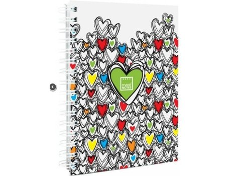 Caderno Espiral A5 MAKE NOTES Colorful Hearts — Caderno / Multicor