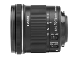 Objetiva CANON EF-S 10-18MM 4.5-5.6 IS STM — Abertura: f22-29 - f/4.5-5.6