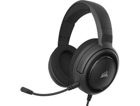 Auscultadores Gaming CORSAIR HS45 Surround (Com fio - Com Microfone - Preto) | [7022489 ]