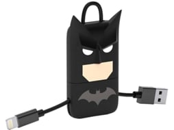 Cabo Lightning TRIBE Batman Preto — USB - Lightning | 0.22 m