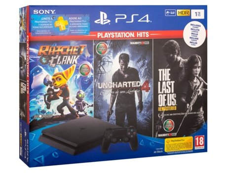a787e8221 Consola PS4 Ratchet   Clank + The Last of Us + Uncharted 4 (1 TB ...