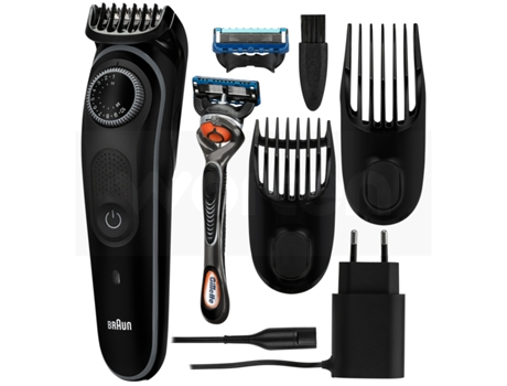 Aparador de Barba BRAUN S3 Bt3042 (Autonomia 60 min - Bateria) — 39 length settings. Lifetime sharp blades