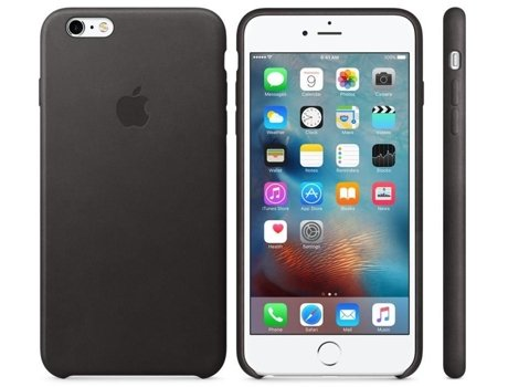 Capa APPLE iPhone 6 Plus Apple Pele Preto — Capa iPhone 6 Plus