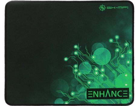 Tapete de Rato Gaming ENHANCE Voltaic XL-G (Superf'cie de Pano - Antiderrapante) — Base Antiderrapante