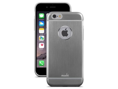 Capa MOSHI iGlaze Armour iPhone 6, 6s Cinzento — Compatibilidade: iPhone 6, 6s