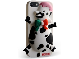 Capa MOSCHINO  Cow Domenica iPhone 5, 5s, SE Branco — Compatibilidade: iPhone 5, 5s, SE