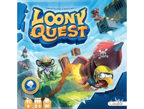 Jogo Tabuleiro Loony Quest — Tipo: Party Game | 8+