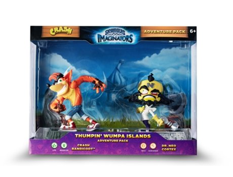 Figuras Skylanders Imaginators - Adventure Pack: Thumpin' Wumpa Islands — Figuras Crash Bandicoot e Dr. Neo Cortex