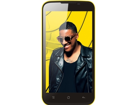 Smartphone BLING One Party+ 8 GB Amarelo — Android 4.4 | 5'' | Octa Core 1.4GHz | 1GB RAM | Dual SIM