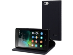 Capa MUVIT Wallet Folio Huawei G Play Mini Preto — Compatibilidade: Huawei G Play Mini