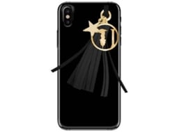 Capa TRUSSARDI Charms iPhone X Preto — Compatibilidade: iPhone X