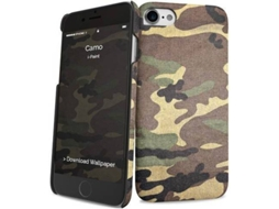 Capa I-PAINT Hard Camo iPhone 7, 8 Castanho — Compatibilidade: iPhone 7, 8