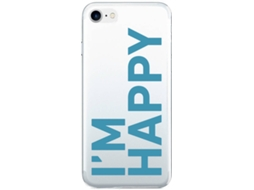 Capa SBS iphone 6-8 Transparente I'm happy drawing — Compatibilidade: iPhone 6/6s/7