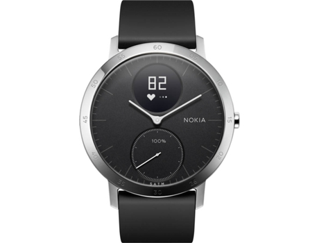 Relógio Desportivo NOKIA Active Steel HR40mm Preto — Bluetooth / Autonomia: 25 dias