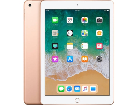 iPad 9.7'' APPLE Wi-Fi+4G 32 GB Dourado — 9.7'' | 128 GB | iOS 10