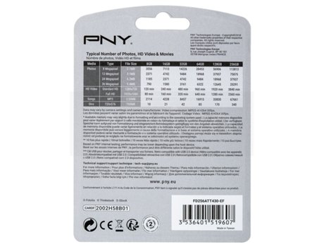 Pen USB PNY 256GB Attaché4 — 256 GB | USB 3.0