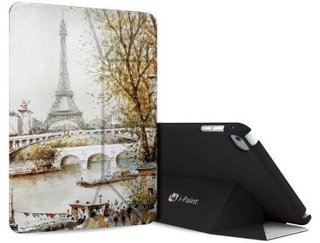 Capa I-PAINT Genius iPad Mini 4 Paris — Compatibilidade: iPad Mini 4