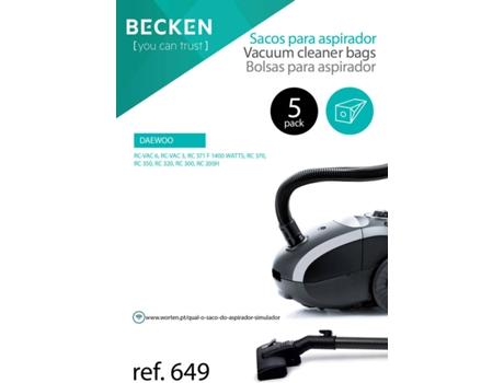 Sacos de Aspirador BECKEN REFª649 (5 unidades) | [4264516 ]