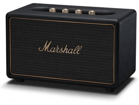 Coluna Multiroom MARSHALL Acton Preto — Wifi, Bluetooth / 2x20W+1x 50W