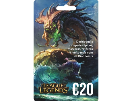 Cartão League Of Legends - 20 Euros — PC