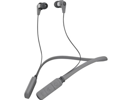 Auriculares Bluetooth SKULLCANDY Ink'd (In Ear - Microfone - Cinzento) — In Ear | Microfone | Atende chamadas