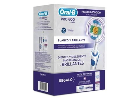 Escova de Dentes ORAL B PACK 3DW PRO600 (20000 rotações por minuto) 94b592678c00